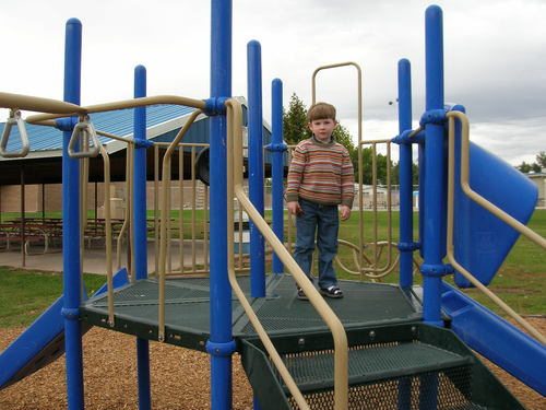 Liam at a park in Duchesne