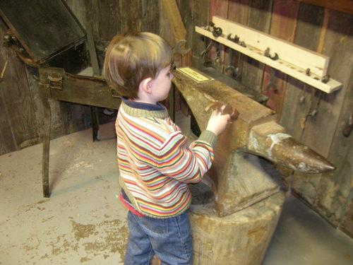 Liam in the Western Mining & Railroad Museum, Helper