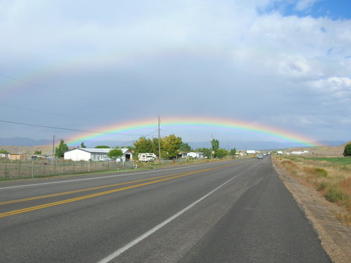A double rainbow outside of Vernal