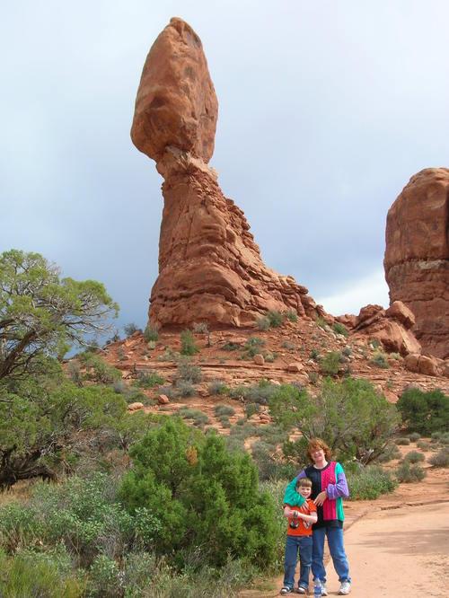 Liam and Melanie by Balanced Rock
