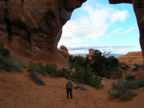 Liam at Pine Tree arch