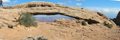 Mesa arch in Canyonlands