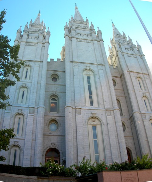 View of the Mormon temple