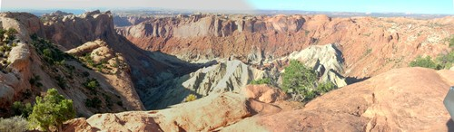 Upheaval dome in Canyonlands