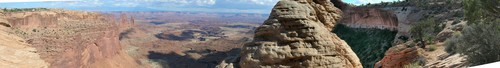 A scenic valley overlook in Canyonlands