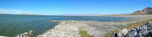 View from the Great Salt Lake State Marina