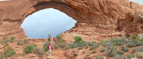 Window arch in Arches National Park